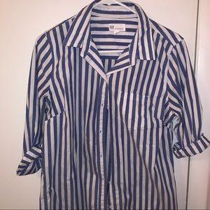 GAP Boyfriend style stripped shirt